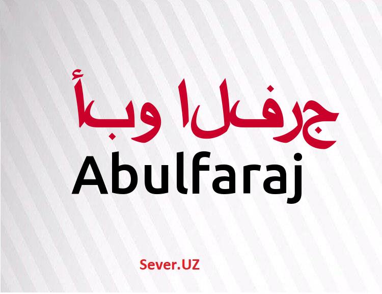 Abulfaraj