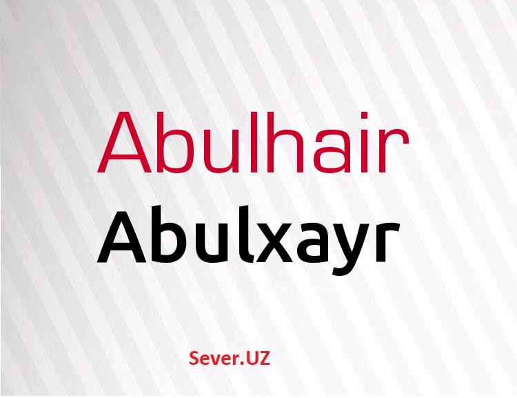 Abulxayr