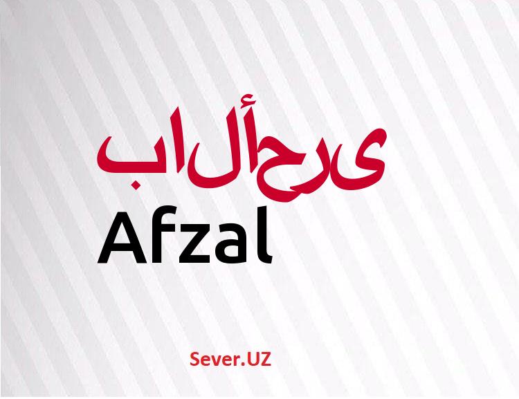 Afzal