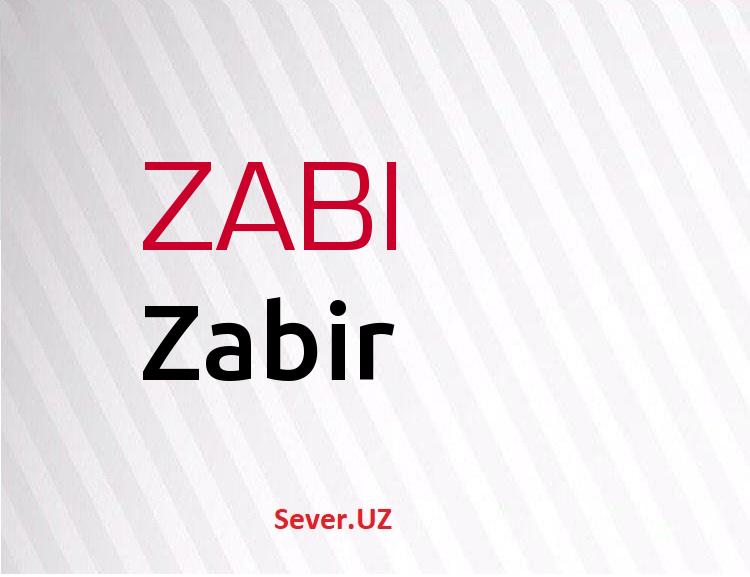 Zabir
