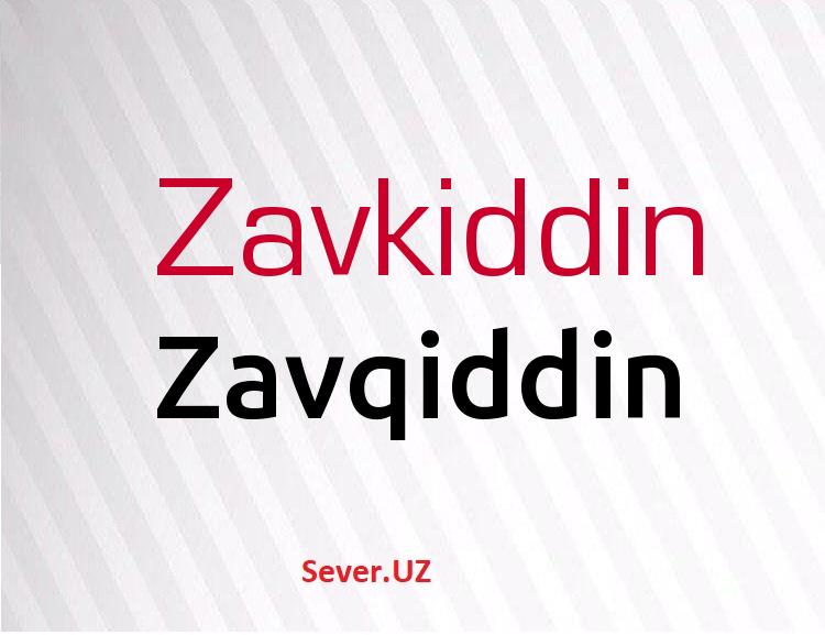 Zavqiddin