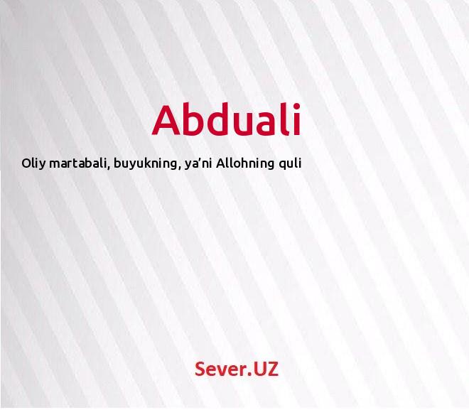 Abduali