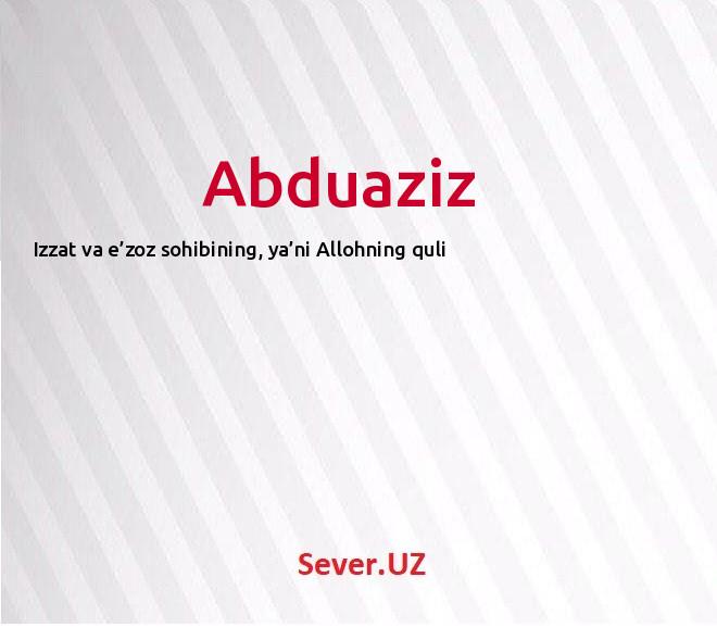 Abduaziz
