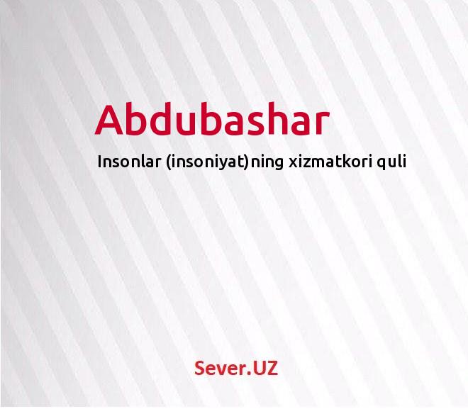 Abdubashar