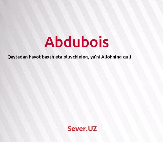 Abdubois