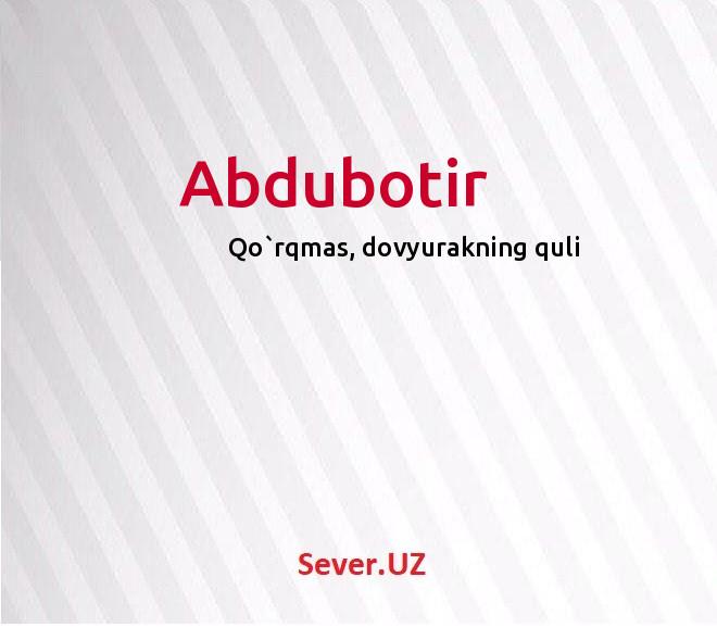 Abdubotir