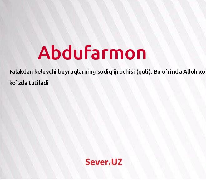 Abdufarmon