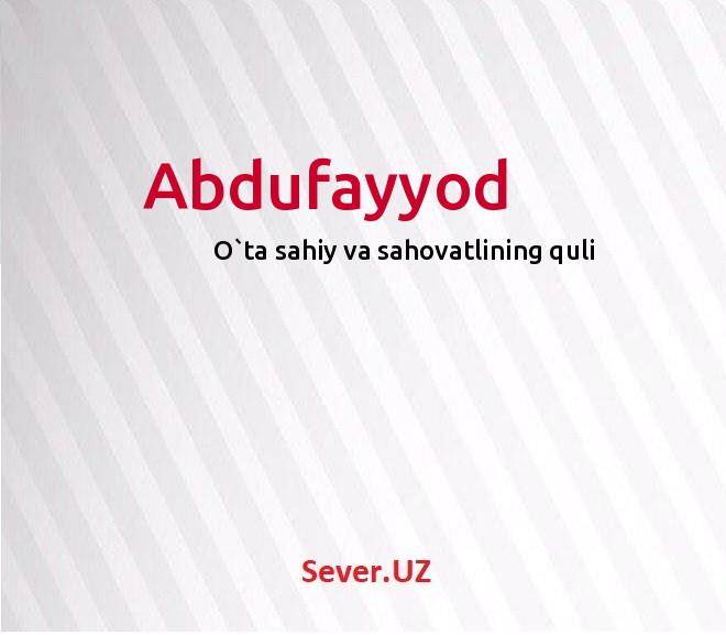 Abdufayyod