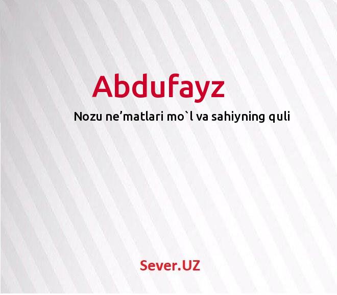 Abdufayz