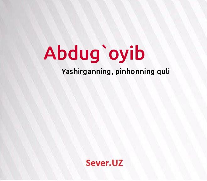Abdug`oyib