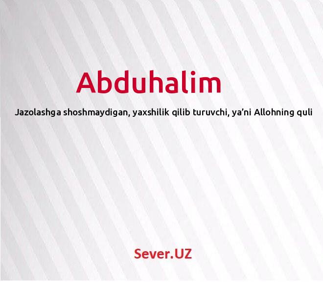 Abduhalim