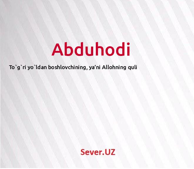 Abduhodi