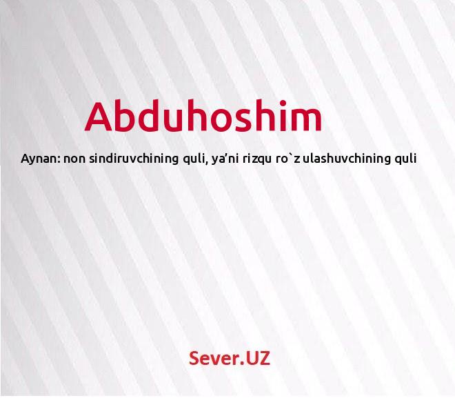 Abduhoshim