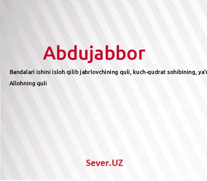 Abdujabbor
