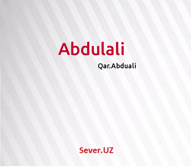 Abdulali