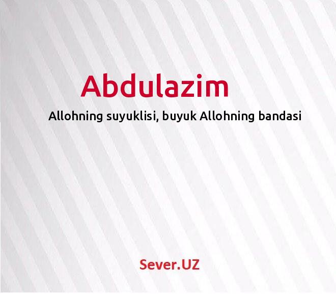 Abdulazim
