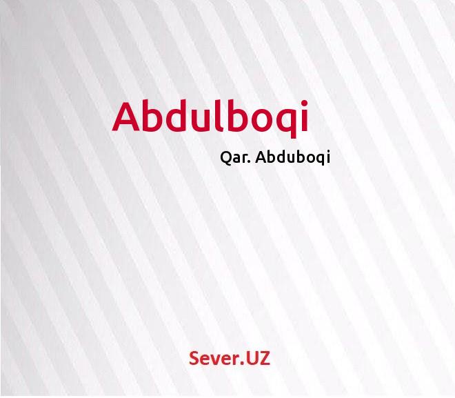 Abdulboqi