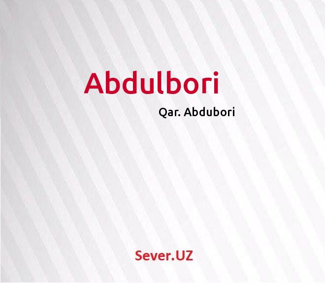 Abdulbori