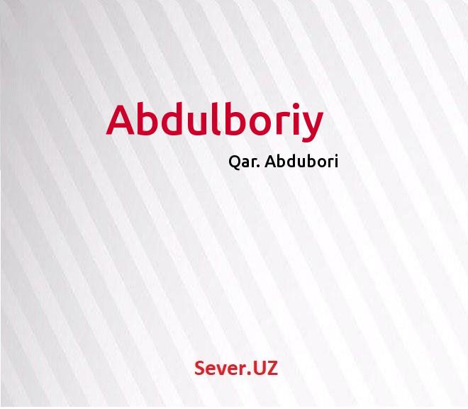 Abdulboriy