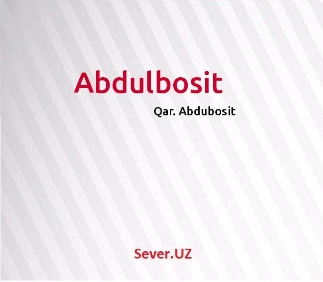 Abdulbosit