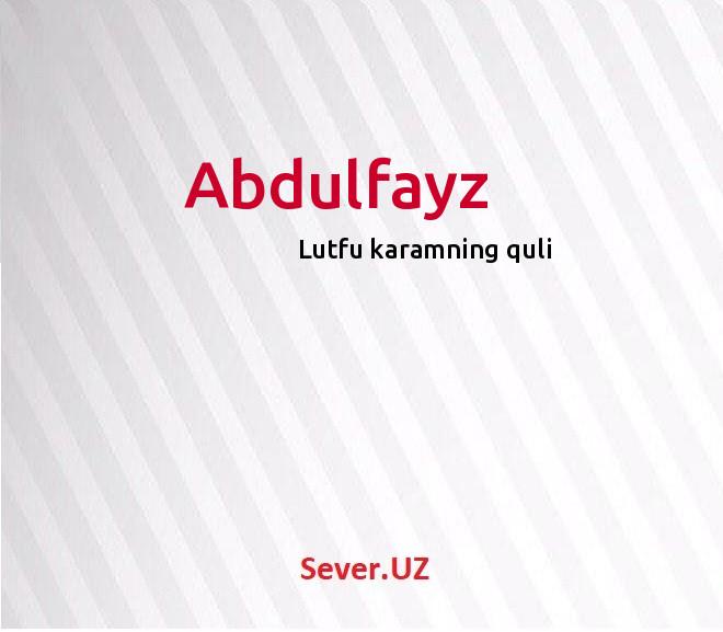 Abdulfayz
