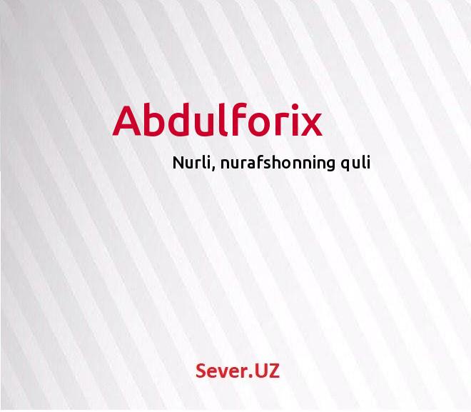 Abdulforix