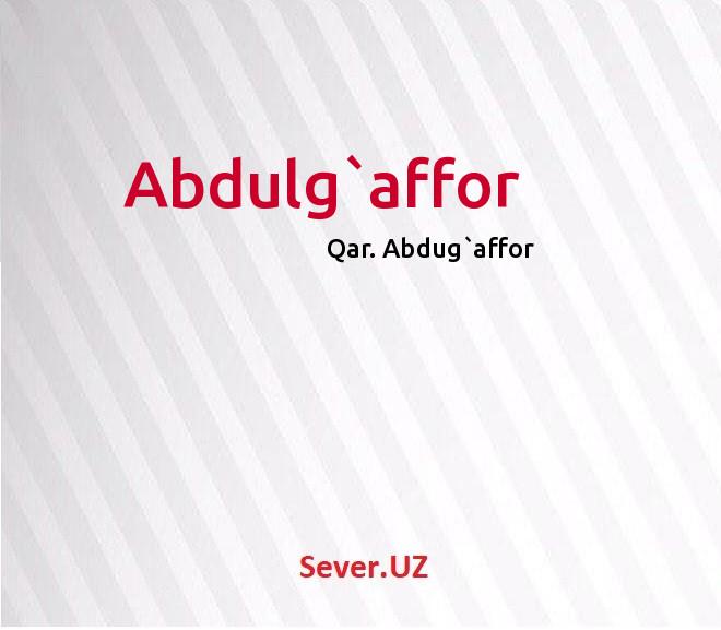 Abdulg`affor