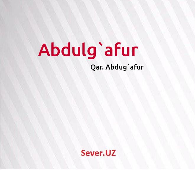 Abdulg`afur