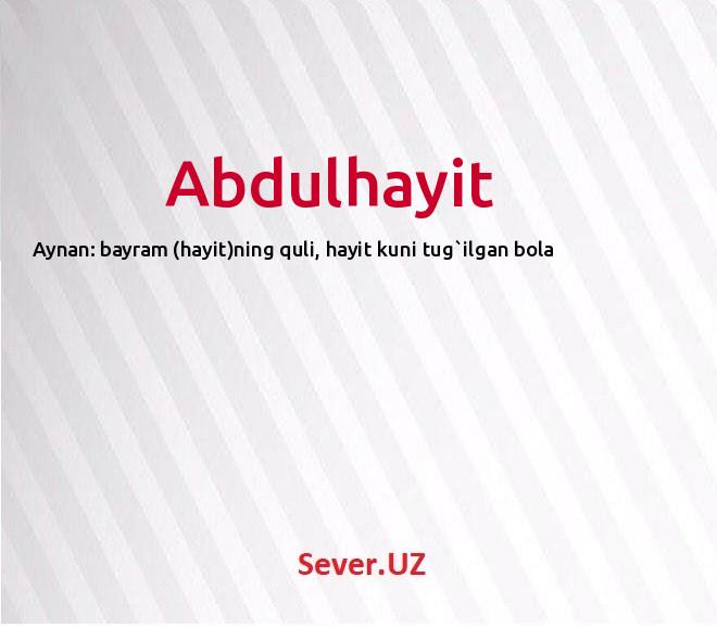 Abdulhayit
