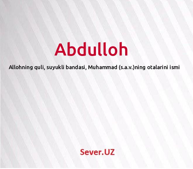 Abdulloh
