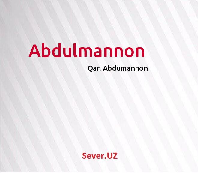 Abdulmannon