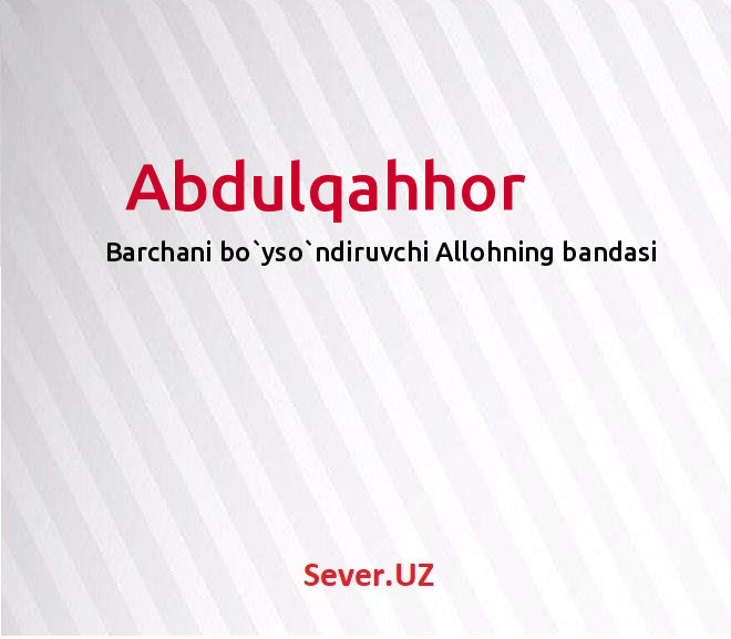 Abdulqahhor