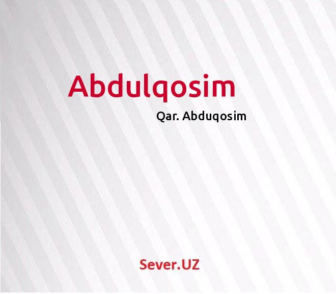 Abdulqosim