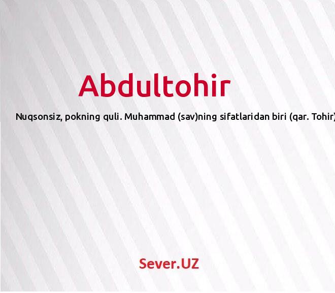 Abdultohir