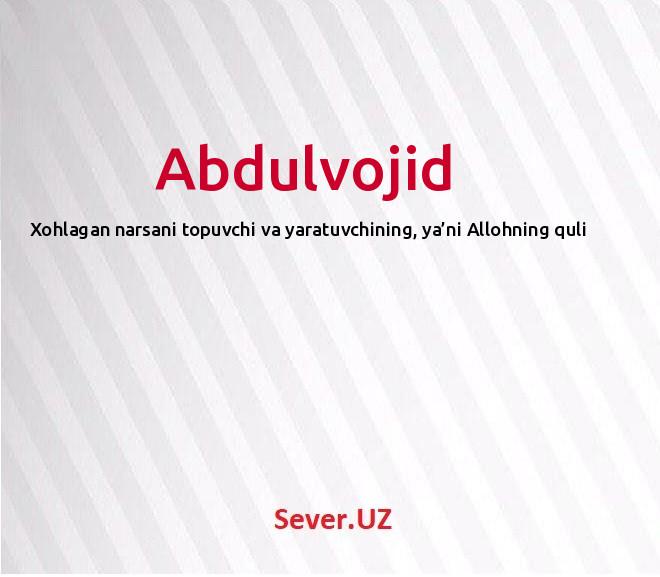 Abdulvojid