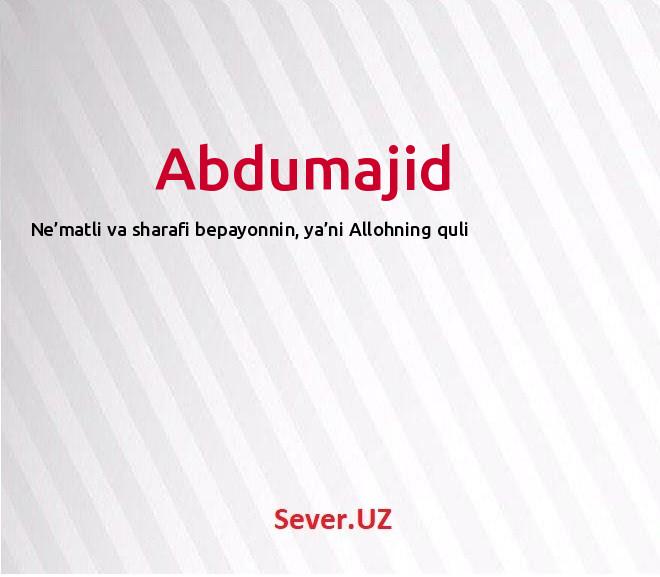 Abdumajid