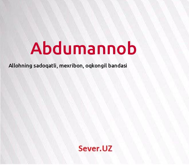 Abdumannob