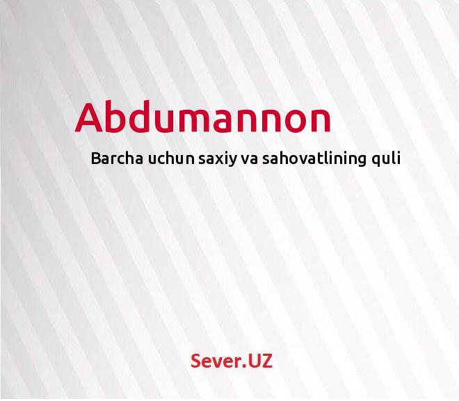 Abdumannon