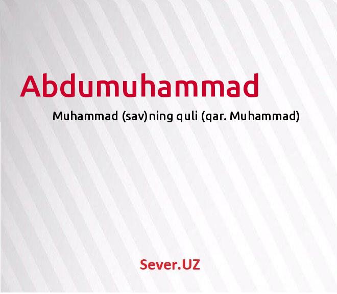 Abdumuhammad