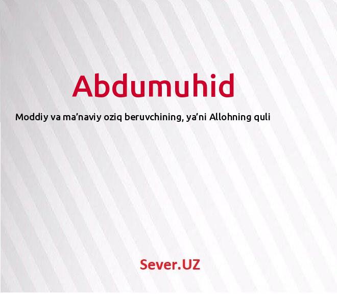 Abdumuhid