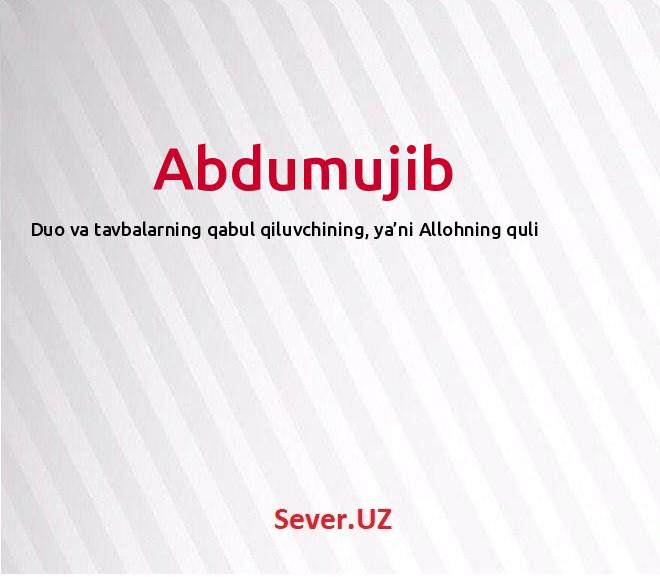 Abdumujib
