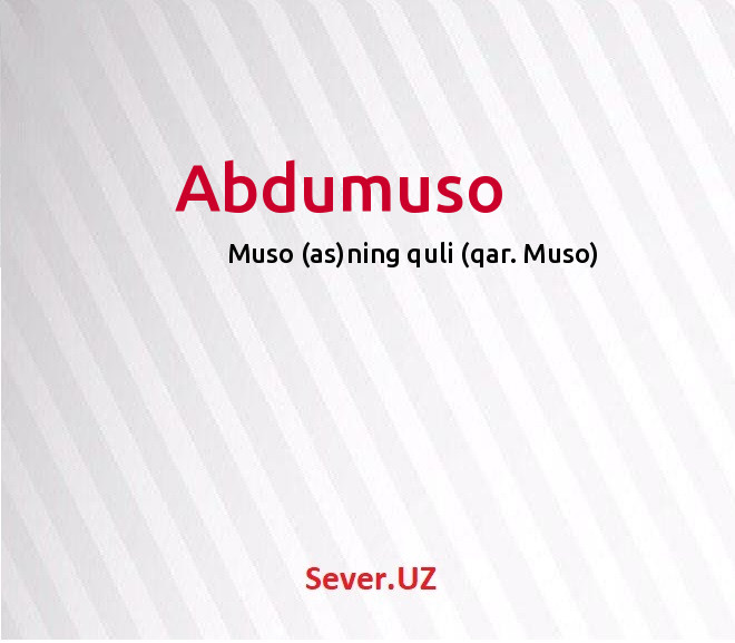 Abdumuso