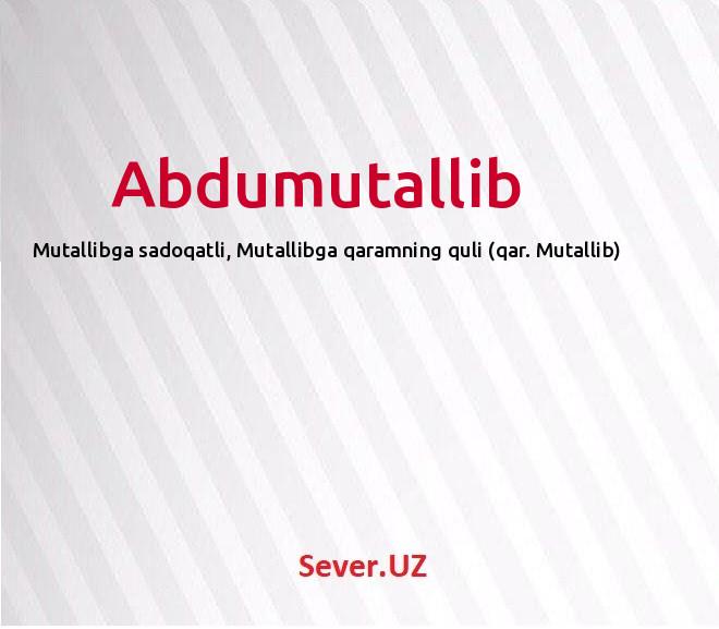 Abdumutallib