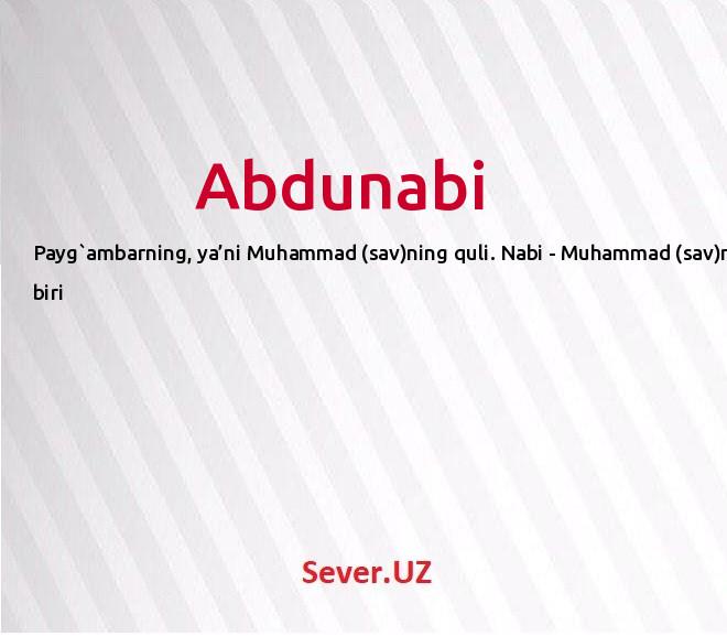 Abdunabi