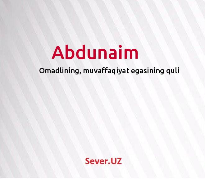 Abdunaim