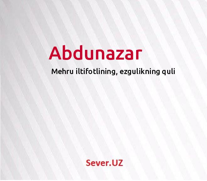 Abdunazar