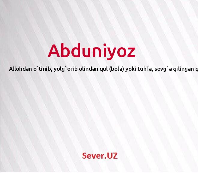Abduniyoz