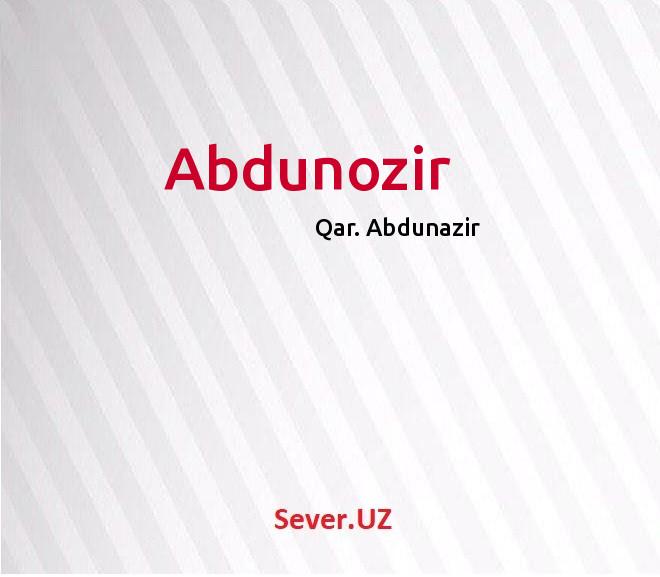 Abdunozir