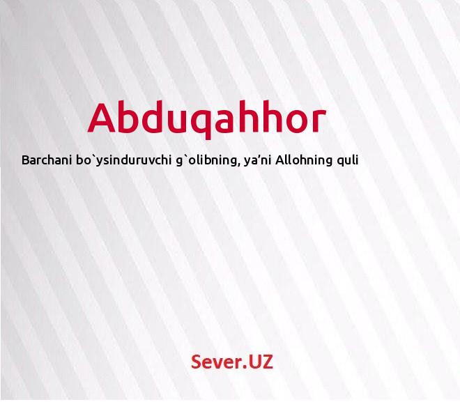 Abduqahhor