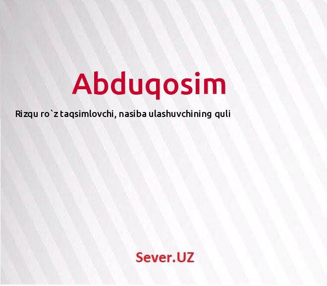 Abduqosim